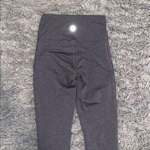 Grey LuluLemon WunderUnder Full Length Leggings